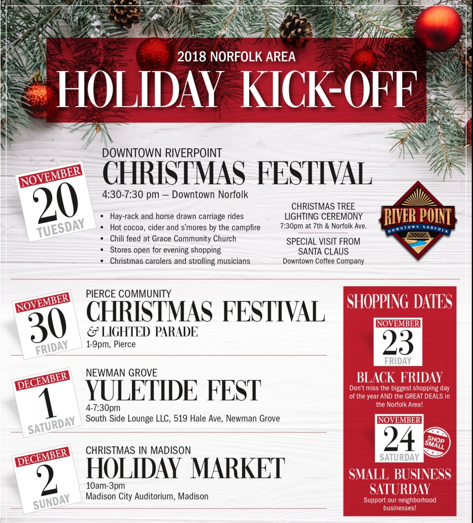 Norfolk, Nebraska Area Holiday Kick-Off – Visit Norfolk, Nebraska